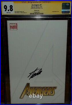 2010 Avengers 1 CGC 9.8 Signed Stan Lee BLANK SKETCH COVER variant SS endgame