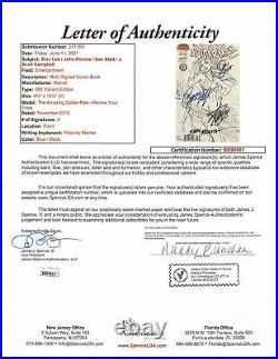 (4) Stan Lee, Romita, Slott & Campbell Signed Spider-Man 005 Variant Comic JSA