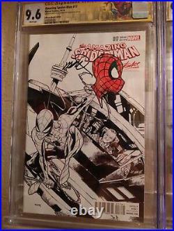 AMAZING SPIDER-MAN #17 NM Stan Lee Sketch Variant Signed/Sketch Humberto Ramos