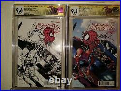 AMAZING SPIDER-MAN #17 NM Stan Lee Variant Set Signed + Sketch by Humberto Ramos