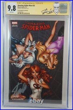 AMAZING SPIDER-MAN #25 VARIANT CGC 9.8 Signed by Stan Lee Campbell B cover