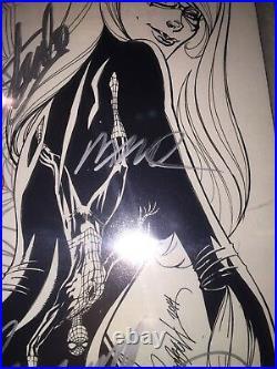 AMAZING SPIDER-MAN #4 1st Silk 9.6 SS SIGNED STAN LEE & RAMOS & J. SCOTT CAMPBELL