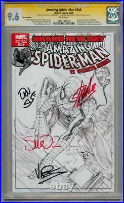 AMAZING SPIDER-MAN #546 SKETCH VARIANT CGC SIGNATURE SERIES SIGNED x4 STAN LEE