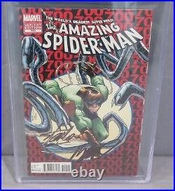 AMAZING SPIDER-MAN #700 Variant Stan Lee & Ramos Signed PGX 9.8 Marvel 2013 cgc