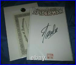AMAZING SPIDERMAN #1 Signed by Stan Lee withCOA Marvel Comics BLANK VARIANT