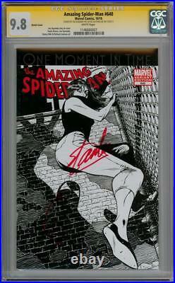 AMAZING SPIDERMAN 640 SKETCH VARIANT CGC 9.8 SIGNATURE SERIES SIGNED x2 STAN LEE