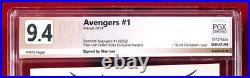 AVENGERS #1 SDCC Color Variant PGX 9.4 NM Near Mint SIGNED BY STAN LEE + CGC