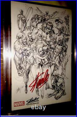 AVENGERS #1 STAN LEE /J. SCOTT CAMPBELL Sketch Variant CBCS9.6SS SIGNED STAN LEE