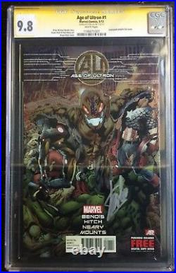 Age Of Ultron #1 Embossed Foil Hitch Variant CGC SS 9.8 Signed by Stan Lee