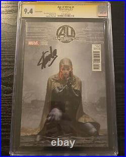 Age of Ultron #2 Black Widow Variant 150 SS CGC 9.4 Signed by Stan Lee Avengers