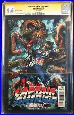 All New Captain America #1 GameStop PowerUp Variant Signed Stan Lee CGC SS 9.6