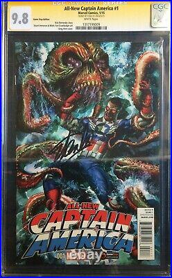 All New Captain America #1 GameStop PowerUp Variant Signed Stan Lee CGC SS 9.8