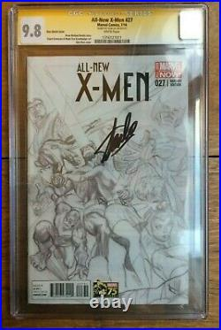 All New X-Men #27 1300 Alex Ross Sketch Variant CGC SS 9.8 Signed Stan Lee
