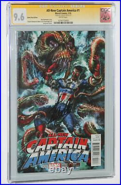 AllNew Captain America #1 GameStop Variant CGC 9.6 SS Signed by Stan Lee Rare