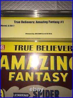 Amazing Fantasy #15 1st Spider-man Stan Lee Story (tb Var) Signed John Romita Sr