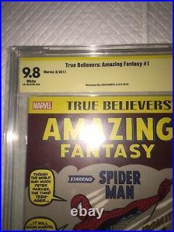 Amazing Fantasy #15 Stan Lee Story (tb Var) Cbcs 9.8 Ss Signed John Romita Sr