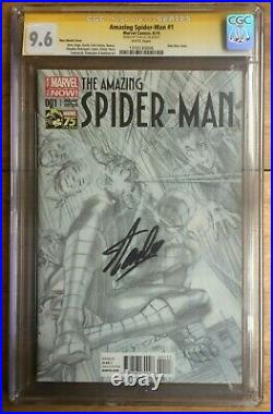 Amazing Spider-Man #1 1300 Alex Ross Sketch Variant CGC SS 9.6 Signed Stan Lee