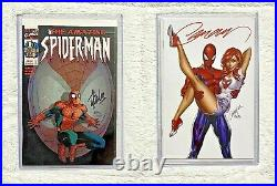 Amazing Spider-Man #1 & #2 Variant Comics SIGNED by Stan Lee, J Scott Campbell