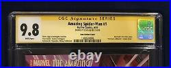 Amazing Spider-Man #1 Ross Color Variant 175 CGC 9.8 Signed-Stan Lee on 11/4/18