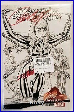 Amazing Spider-Man 15 JSC Sketch Variant Stan Lee & Campbel Signed/ 2 COA's