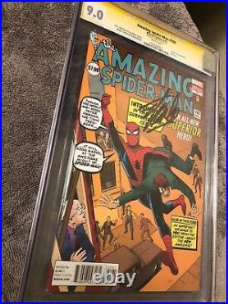 Amazing Spider-Man #700 Mr. Ditko Variant CGC 9.0 VF/NM SS Signed Stan Lee