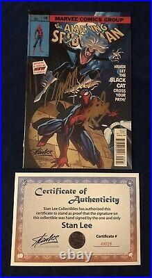 Amazing Spider-Man #8 Color Variant Signed by Stan Lee with COA & Campbell! HOT