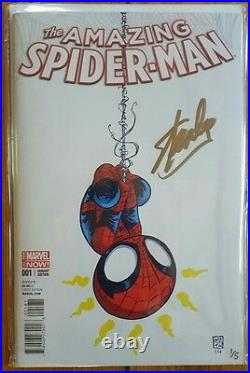 Amazing Spider-man #1 Baby Variant GOLD SIGNED Stan Lee (1 of 5) & Skottie Young