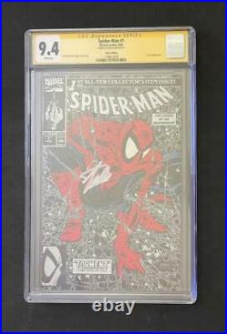 Amazing Spider-man #1 Cgc 9.4 Ss Signed Stan Lee Silver Variant Mcfarlane 300
