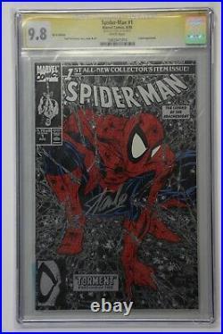 Amazing Spider-man #1 Cgc 9.8 Ss Signed Stan Lee Black Silver Variant Mcfarlane
