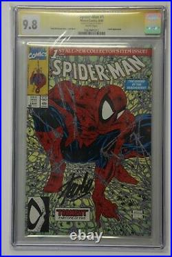 Amazing Spider-man #1 Cgc 9.8 Ss Signed Stan Lee Green Variant Mcfarlane 300