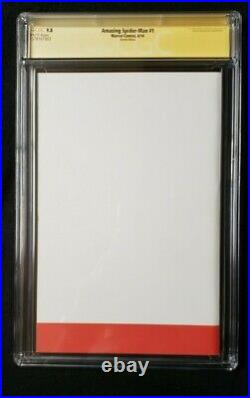 Amazing Spider-man #1 Cgc Ss 9.8 Stan Lee Signed Blank Variant Sketch Edition