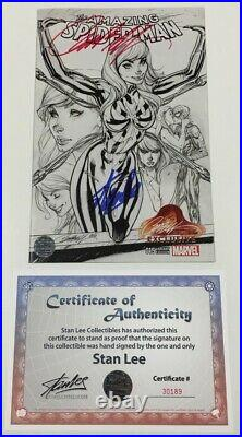 Amazing Spider-man #15 B&W Variant Signed by Stan Lee & J. Scott Campbell withCOA