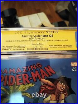 Amazing Spider-man #25 Campbell Variant CGC 9.6 signed Stan Lee, Campbell + more