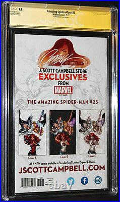 Amazing Spider-man #25variant Bcgc Ss 9.8 Signed 2x By Stan Lee & Campbell