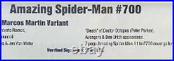 Amazing Spider-man #700 Cbcs 9.6 (2/13) Not Cgc Signed Stan Lee Martin Variant