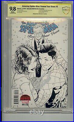 Amazing Spider-man Renew Your Vows 5 Cbcs 9.8 Ss Signed Stan Lee B&w Variant Cgc