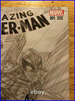 Amazing Spiderman 001 1 Signed Stan Lee Alex Ross Sketch Variant Comic 1200