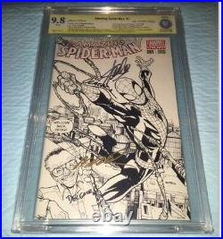 Amazing Spiderman #1 9.8 Ss Signed Stan Lee Ramos Sketch Variant 1st Cindy Moon