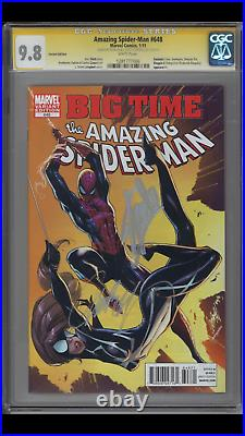 Amazing Spiderman 648 Cgc 9.8 Campbell Color Variant Signed Stan Lee & Campbell