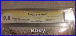 Amazing spiderman 1 2014 variant signed x 4 stan lee, ramos, olazaba, delgado