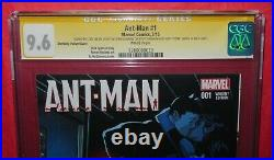 Ant-Man #1 Shrinking Variant Signed by Stan Lee & McGuiness CGC 9.6 Marvel 2015