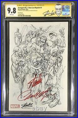 Avengers #1 CGC 9.8 Stan Lee Edition Variant Signed Stan Lee & J Scott Campbell