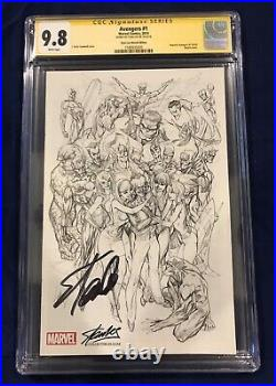 Avengers #1 Campbell SKETCH Variant CGC Signature Series 9.8 Signed by Stan Lee