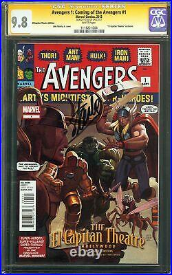 Avengers 1 Coming of the Avengers #1 CGC 9.8 SIGNED STAN LEE LOKI MCU Variant