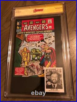Avengers 1 Variant Cgc Ss 9.8 Signed By Stan Lee J Scott Campbell Retired Label