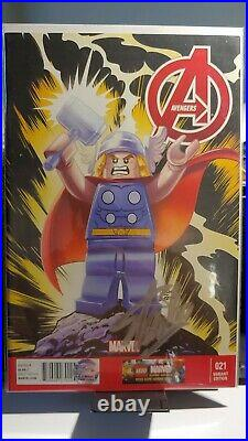 Avengers #21 Variant Edition Lego signed Stan Lee silver withcoa