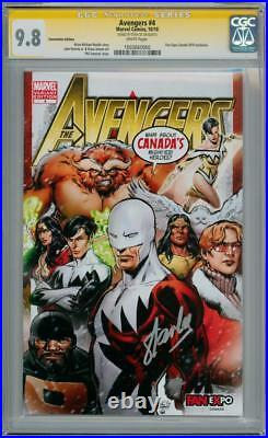 Avengers #4 Fan Expo Variant Cgc 9.8 Signature Series Signed Stan Lee Marvel
