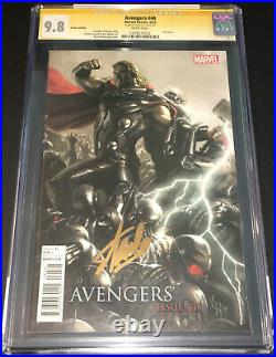 Avengers #44 Cgc 9.8 Ss Gold Signed By Stan Lee 125 Limited Variant Ultron Thor