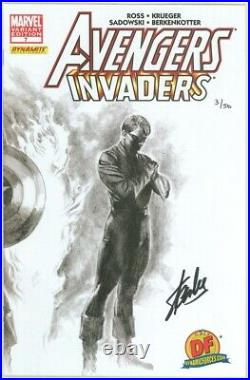 Avengers Invaders #7 Alex Ross Variant Dynamic Forces Signed Stan Lee Df Bucky