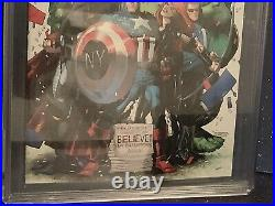 Avengers Vs X-Men #12 Stan Lee Signed CGC 9.8 Marvel Comic Stegman NY Giants Var